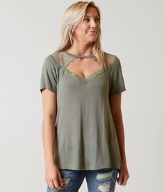 cd791d2d4 Daytrip Pieced Lace Top - Women's Shirts/Blouses in Olive   Buckle. Shirt  BlousesTee ...