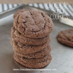 TweetChocolate Sugar Cookies-so simple yet so good! Sometimes you just get in a mood. You want something. Something to nibble on. You look through all the cabinets. Nothing looks good. You stand in front of the refrigerator, with the door open. Letting all the cold air out, for at least 5 minutes. Still, nothing. So …