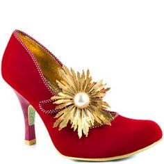 Embellished Red Shoes