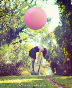 Ready to Go. From 500px. Marina Gondra. Pink Balloon fly.