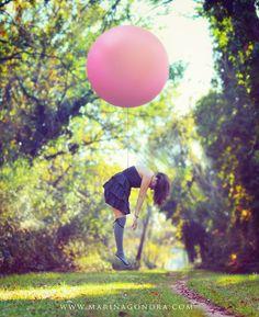 Ready to Go. From 500px. Marina Gondra. Pink Balloon fly.