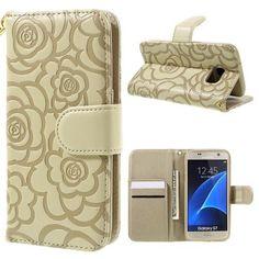 Köp Läderfodral Blommor Samsung Galaxy S7 guld online: http://www.phonelife.se/laderfodral-blommor-samsung-galaxy-s7-guld