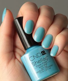 This colour is so cute for spring! CND Shellac Azure Wish