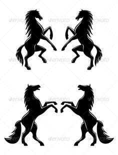 bottom pair of horses would make a nice tattoo either by bottom hips of back