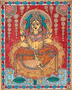 Indian Painting Styles...Kalamkari Paintings (Andhra Pradesh)-lakshmi-kalamkari-painting-1-.jpg
