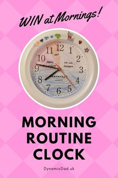 It can be a challenge to get the kids out of bed & the pre school necessities completed. Here's how to WIN the morning routine with a personalised clock! Parenting Toddlers, Parenting Hacks, Routine, Clock For Kids, How Do I Get, Write It Down, Craft Activities, Understanding Yourself, Getting Things Done