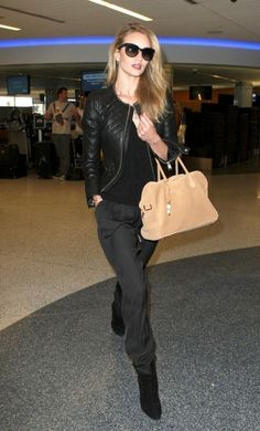 Rosie Huntington-Whiteley in #ANINEBING Leather Jacket