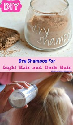 #DIY: Dry Shampoo for Light Hair and Dark #Hair #HairCare #DiyIdeas #DiyProjects