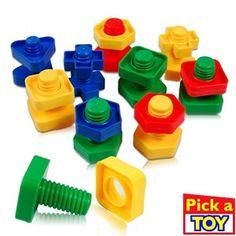 5 Set Screw building blocks plastic insert blocks nut shape toys for children Educational Toys montessori scale models. Montessori Toddler, Montessori Toys, Building For Kids, Building Toys, Toys For Us, Kids Toys, Scale Models, Diy Desktop, Educational Baby Toys