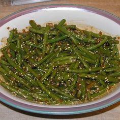 Crunchy Szechuan Green Beans Recipe on Yummly Szechuan Green Beans, Asian Green Beans, Chinese Green Beans, Potato Vegetable, Vegetable Sides, Soy Sauce Green Beans, Artichoke Chicken, Green Bean Recipes, Hoisin Sauce