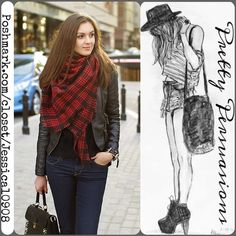 NWT Red Plaid Blanket Scarf NEW Plaid Blanket Scarf Wrap  Available in red plaid, blue plaid & multicolored plaid   Measurements:  Material: Cotton Blend    This oversized blanket scarf features super soft and warm material and is the perfect as a cold weather companion.    Great addition to your fall and winter wardrobe & right on trend!   Please request an individual listing if you'd like to purchase. Please do not purchase this listing. Thank you.   Bundle discounts available  No pp or…