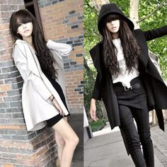 2013 women's fashion handsome with a hood trench outerwear long design $23.30