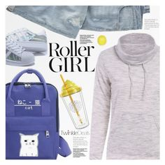 Street Style by pokadoll on Polyvore featuring moda, Wrap, River Island, polyvoreeditorial and polyvoreset