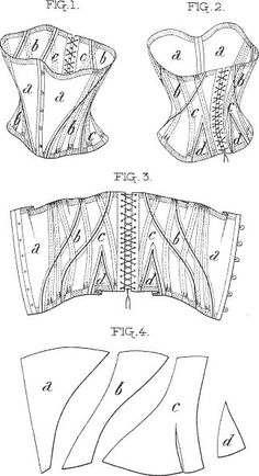 Corset pattern  4 pieces