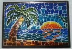 Jacarelado Gaudi, Decoupage, Irene, Artwork, Diy, Painting, Christmas, Hand Crafts, Painted Wooden Boxes