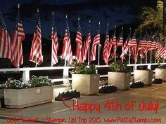US Flags at the USS Missouri Pearl Harbor, Hawaii - happy 4th!