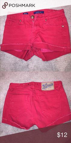 Red shorts! Red shorts, worn! Shorts Jean Shorts