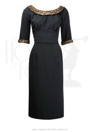 1960s Peggy Dress - Blk/Animal