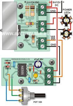 Proyecto y construcción DIY de un regulador lineal de corriente (driver) para leds de potencia con entrada de control para regulación de intensidad PWM compatible con las salidas de los microcontroladores (como por ejemplo Arduino). El post con el proyecto del driver para leds de alta potencia, publicado en Inventable en el 2012, ha tenido … Seguir leyendo Nuevo driver para leds de alta potencia con entrada de control PWM →