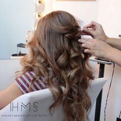 "7,770 Likes, 59 Comments - Hair and Makeup by Steph (@hairandmakeupbysteph) on Instagram: ""Happy Saturday! #hairandmakeupbysteph #bridalhair #hairtutorials #howtohair #hairtutorial…"""