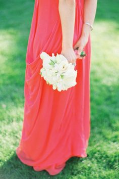 Bridesmaid in red
