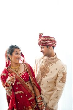 Indian Couple in Red and White http://www.datingforasiansuk.com