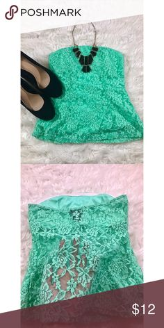 Wet Seal Mint Lace Tube Top Size small. Lightly used and in great condition. Open to reasonable offers. ☺️ No trades please.  **Remember, 15% off bundles of 2 or more!** Wet Seal Tops
