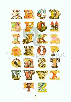 alphabet Crazy alphabet animal fonts/lettering
