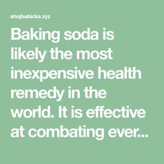 Baking soda is likely the most inexpensive health remedy in the world.It is effective at combating everything from colds to cancer, as well as beneficial for oral health, deodorants and so much mo…