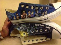 Walking Dead converse on Etsy, $110.00