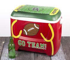Go Team Drink Cooler DIY Craft Project #PaintingTheSeasons