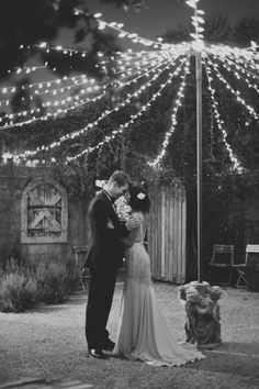 Fairy Lights via Anita & Alex's Classic Wedding / Wedding Style Inspiration / LANE