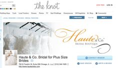 The Knot has featured our boutique on their site! #curvyBride #plusSizebride #beautifulBride #weddings #hauteandcobridal