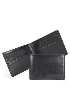 Men's Bosca Small Bifold Wallet - Black