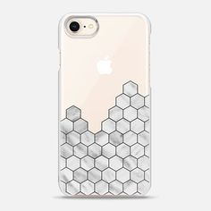 Casetify iPhone 8 Snap Case - Marble Exagonal Collage by Emanuela Carratoni