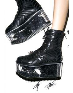 Dolly Bae Harlots Web Boots | Dolls Kill