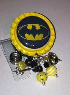 Super Hero Retractable badge reels-you choose image. $10.00, via Etsy.