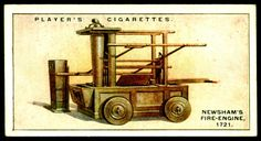 "https://flic.kr/p/hZeNHj | Cigarette Card - Fire Engine, 1721 | Player's Cigarettes ""Fire-Fighting Appliances"" (series of 50 issued in 1930) #2 Newsham's fire-Engine, 1721"