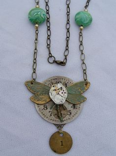 Steampunk dragonfly and watch face Time Flies by marthasbears
