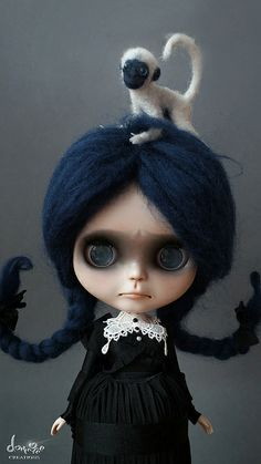 She's gorgeous! My second custom Blythe by dollmofee, via Flickr