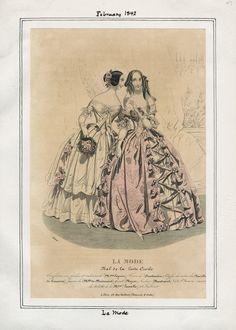 La Mode February 1842 LAPL