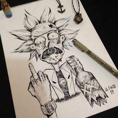 RickTattz – Graffiti World Trippy Drawings, Dark Art Drawings, Tattoo Drawings, Cool Drawings, Drawing Sketches, Cartoon Kunst, Cartoon Art, Graffiti Tattoo, Dope Kunst