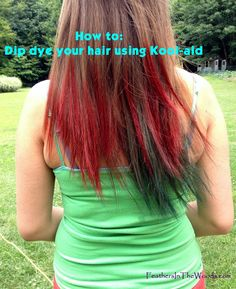 Does your kid want cool colored hair but you don't want to break the bank? Here is how to dip dye their hair using kool aid.