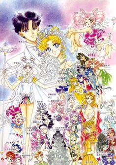 Sailor Moon characters artwork by Naoko Takeuchi Sailor Moon Sailor Stars, Sailor Moon Manga, Sailor Moon Crystal, Arte Sailor Moon, Sailor Uranus, Manga Anime, Manga Art, Manga Illustration, Illustrations
