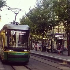 New tram in Helsinki....number 10 takes me home