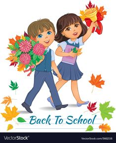 Back to school children Royalty Free Vector Image Kids Cartoon Characters, Cartoon Pics, 1st Day Of School, Back To School, Art Classroom Rules, Teaching Kids Respect, School Border, School Images, Kids Background