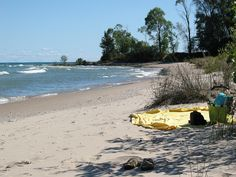 Late summer and the beach to ourselves! Lake Michigan, Harrington Beach State Park, Wisconsin.