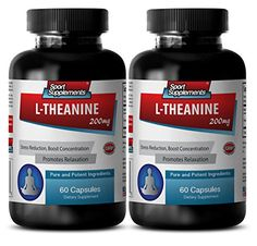 L theanine 100  L Theanine 200mg  Creates a state of wakeful relaxation 2 Bottles  120 Capsules -- Learn more by visiting the image link.  This link participates in Amazon Service LLC Associates Program, a program designed to let participant earn advertising fees by advertising and linking to Amazon.com.