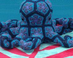 Custom Handmade African Flower Crochet Horse by Lineandloops