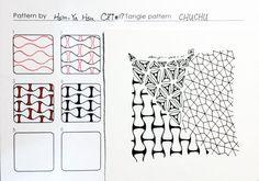 禪繞畫 Zentangle pattern- CHUCHU